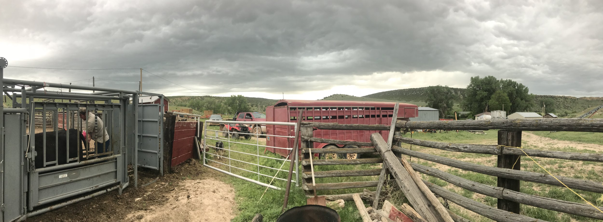 Storm blowing in.
