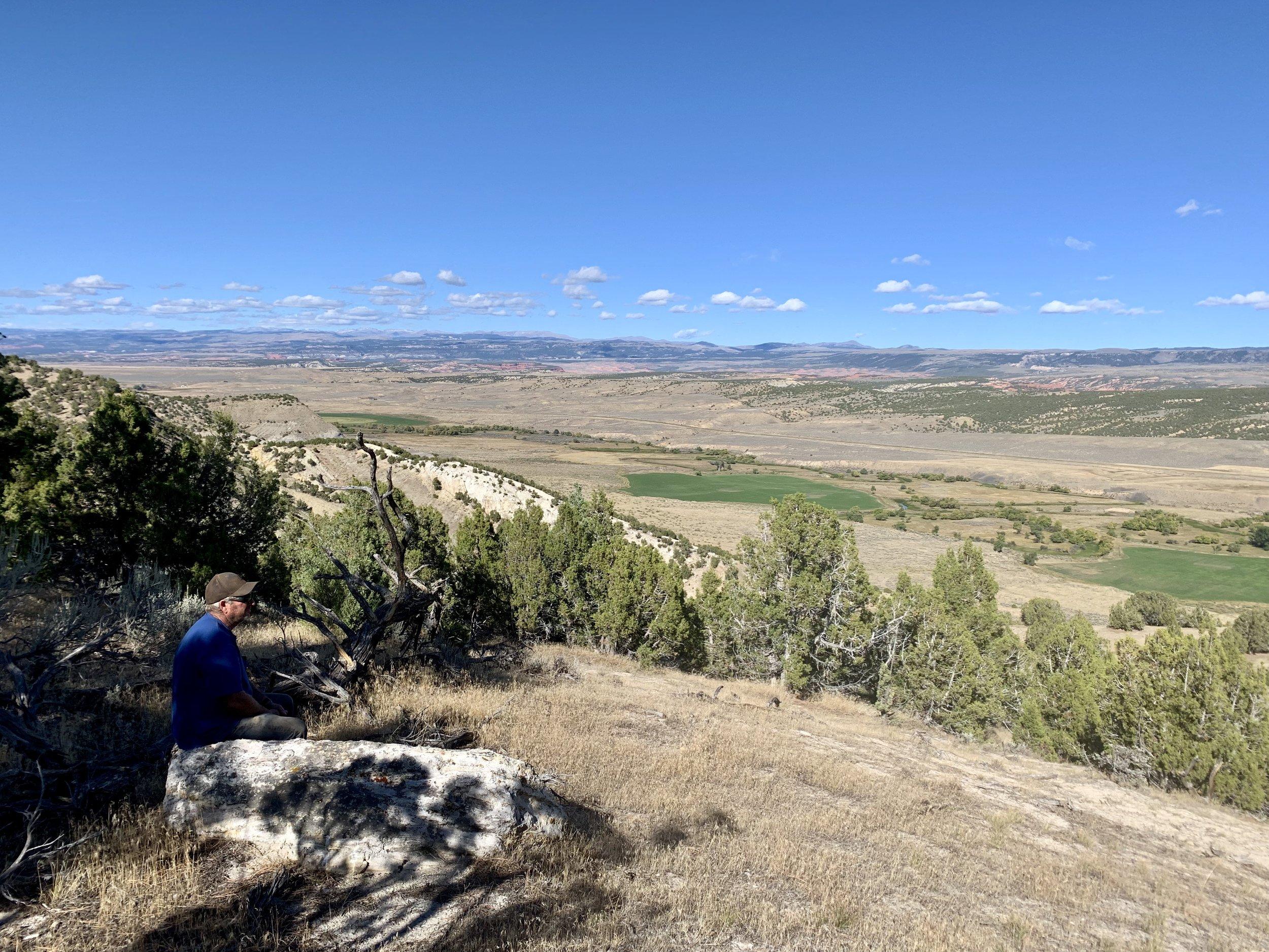 Vernon enjoying the view