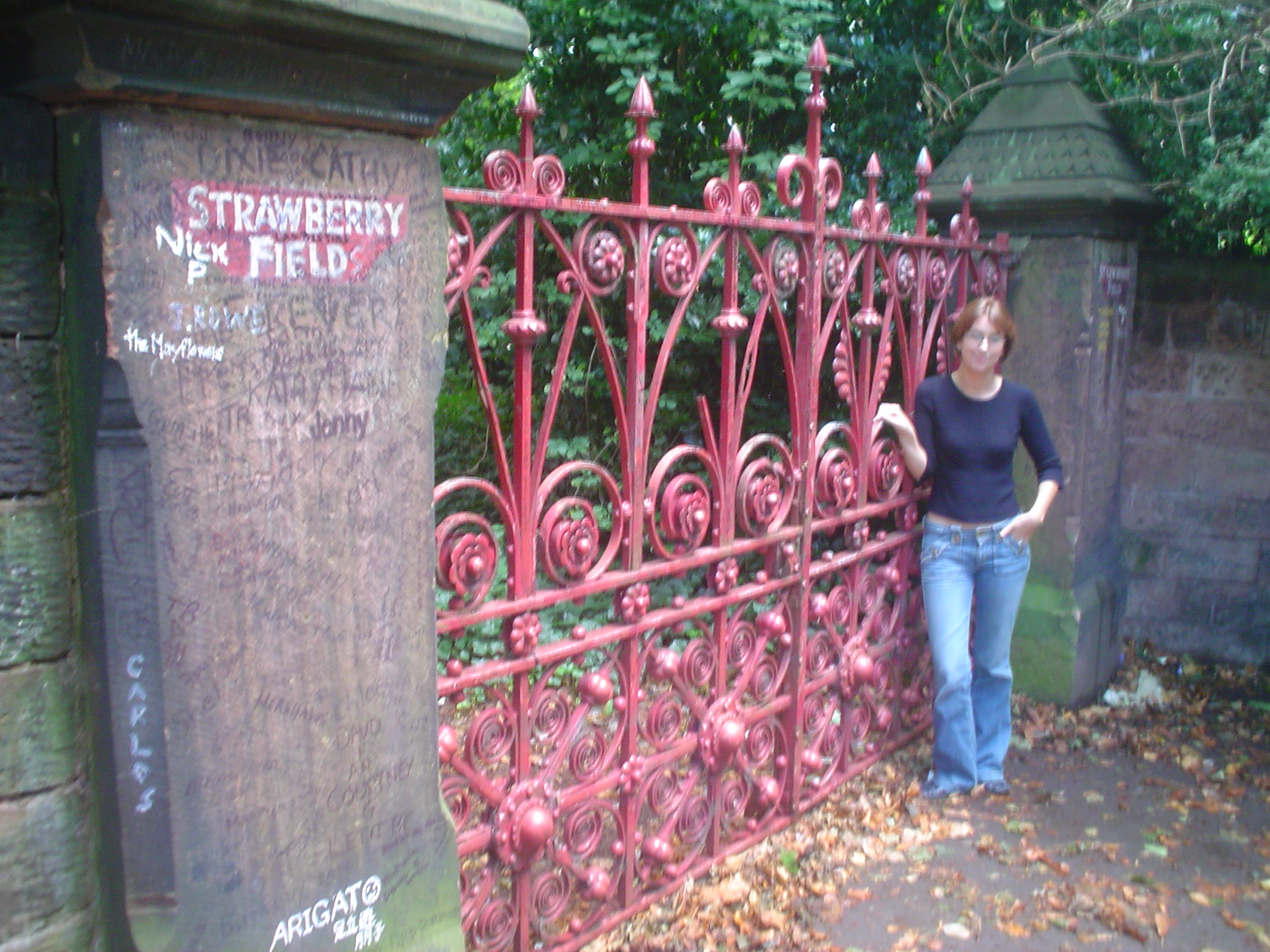 THE Strawberry Fields! My mind is blown in this picture. (That's why the photo is so damn fuzzy.)