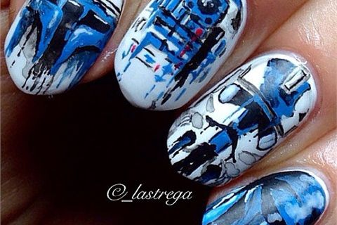 Watercolor masterpiece - It's hard to believe that this manicure could be so detailed. Each nail is worthy of framing!