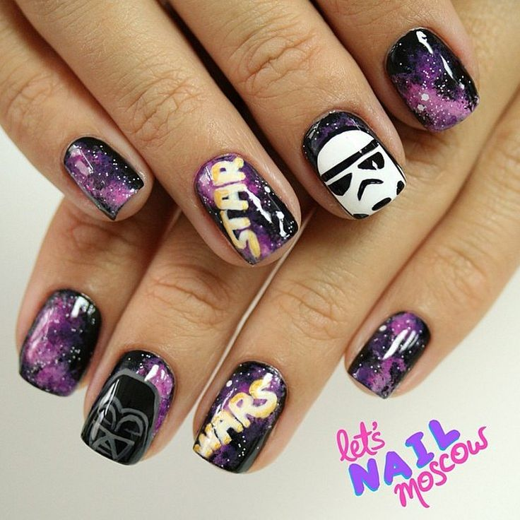 In a galaxy far, far away - I love nail art and imagery, but I have to admit, I'm most often enamored at good galaxy designs... and these are fantastic.