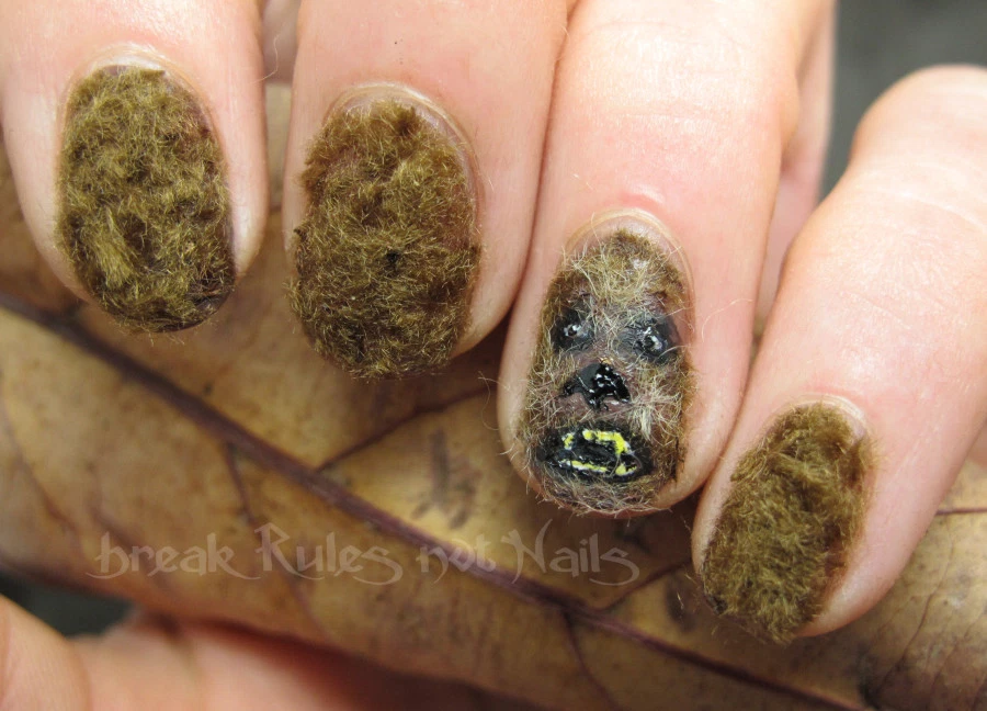 If it's texture you're looking for… - These Chewbacca nails may be right up your alley.