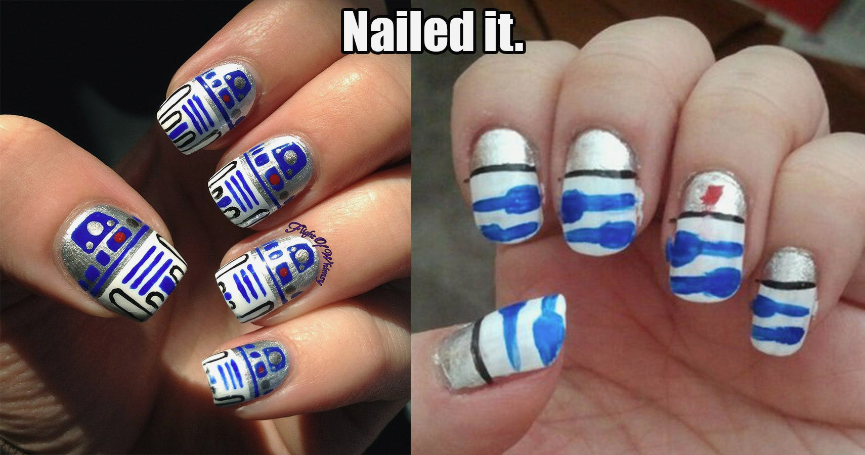 Nailed It - In case the Pinterest Fail is strong in you, there are fortunately easier options to achieve manicure perfection.