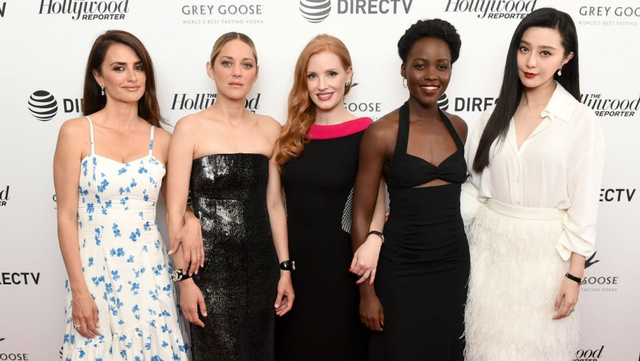 Left to right: Penélope Cruz, Marion Cotillard, Jessica Chastain, Lupita Nyong'o, and Fan Bingbing, at the 71st annual Cannes Film Festival. Source: David Fisher/REX/Shutterstock via Indiewire