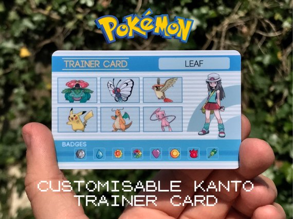 Custom Pokemon Trainer Card (Kanto Design) - In a world where Pokemon are just a wishful thought, this amazing Etsy seller, SamGallagherDesign has brought the Pokemon world a little closer with these incredible Pokemon Trainer Cards. With a variety of styles, you can make sure that when the time comes to battle, everyone will know your line-up and how unstoppable you are.