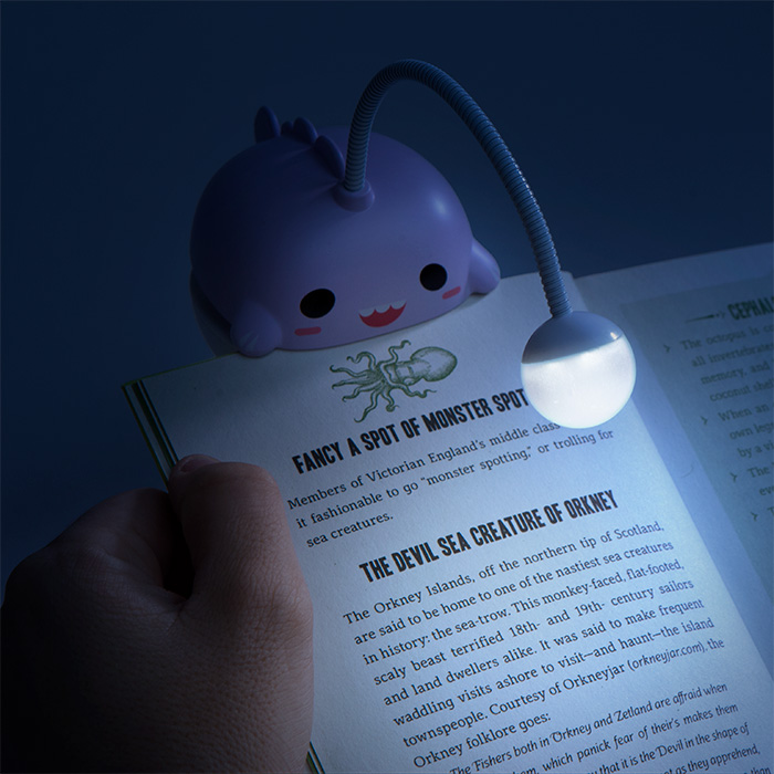 Anglerfish Book Light - Is your roommate or significant other keeing you up all night, reading up on lore or their favorite Harry Potter book for the 15th time? Finally, get some rest by gifting them this kawaii Anglerfish Book Light. *Cool note: with the purchase of a 50 dollar order, ThinkGeek will toss you this little guy for only a dollar! P.S half of this list is comprised of ThinkGeek items.