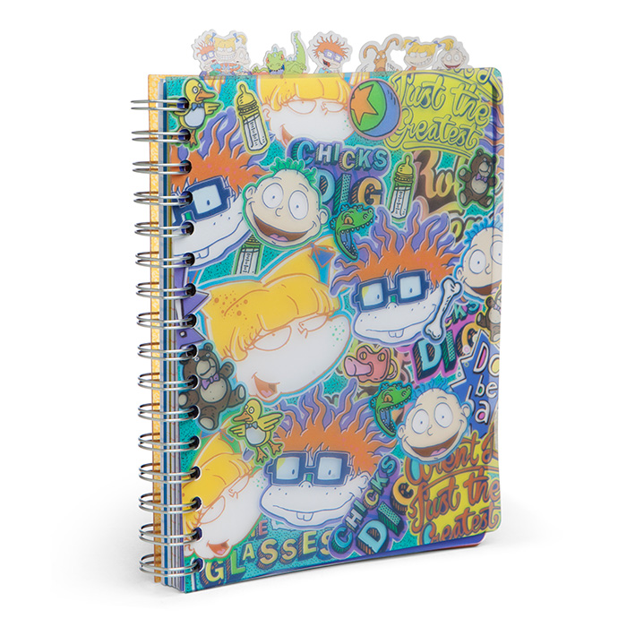 Nickelodeon Rugrats Vinyl Notepad - A college-ruled notebook with the Rugrats on it? Sign me up. This 144-page notebook comes with 7 dividers of your favorite rugrats characters. Great for the girl who loves to write or even just loves to doodle. It's always nice to have a handy notebook when you're on an adventure whether to finally meet Reptar or just going to the supermarket.