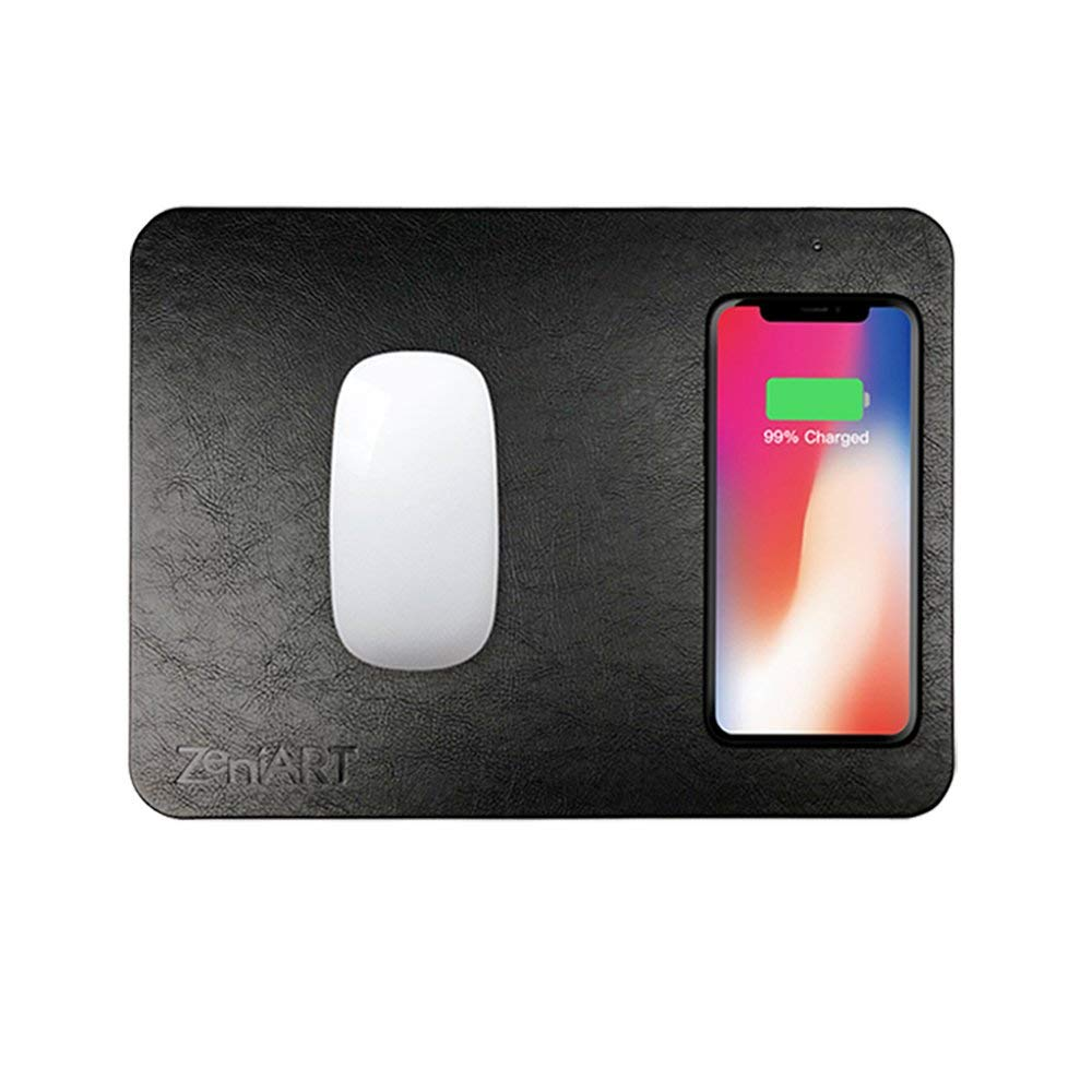ZeniART Qi Wireless Charging Mousepad (Fast Charge) - This wireless phone charging mouse pad is one of those things you don't realize you need until you have it, you'll wonder why you ever had your phone just sitting beside your mousepad, being lame and uncharged.