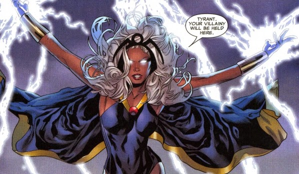 Storm - Storm is a Kenyan princess who was raised between Cairo and Harlem. She's one of the most powerful mutant superheroes in the Marvel Universe.