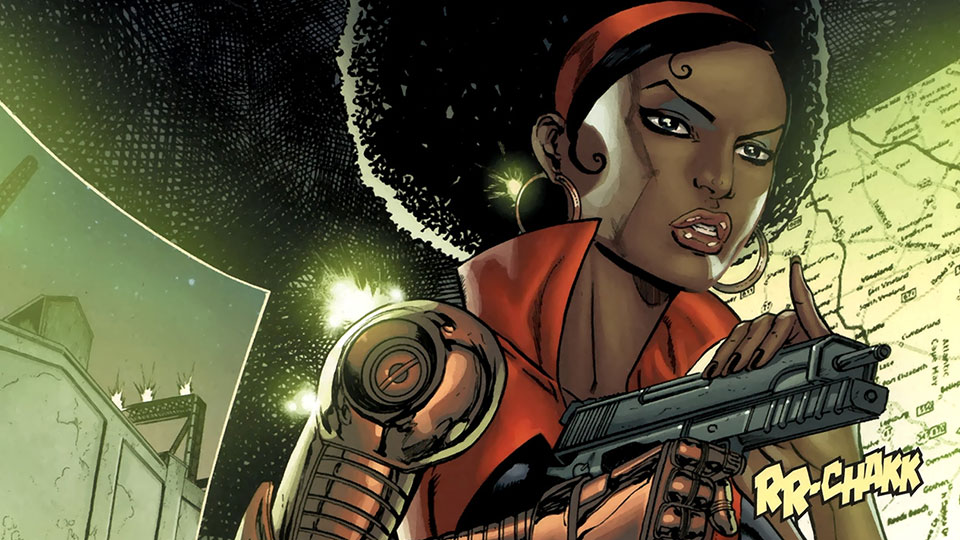 Misty Knight - Misty Knight was introduced to the Marvel Universe in 1975, during the height of Blaxploitation films.