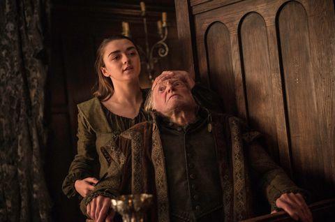 Arya Stark killing Walder Frey - HBO