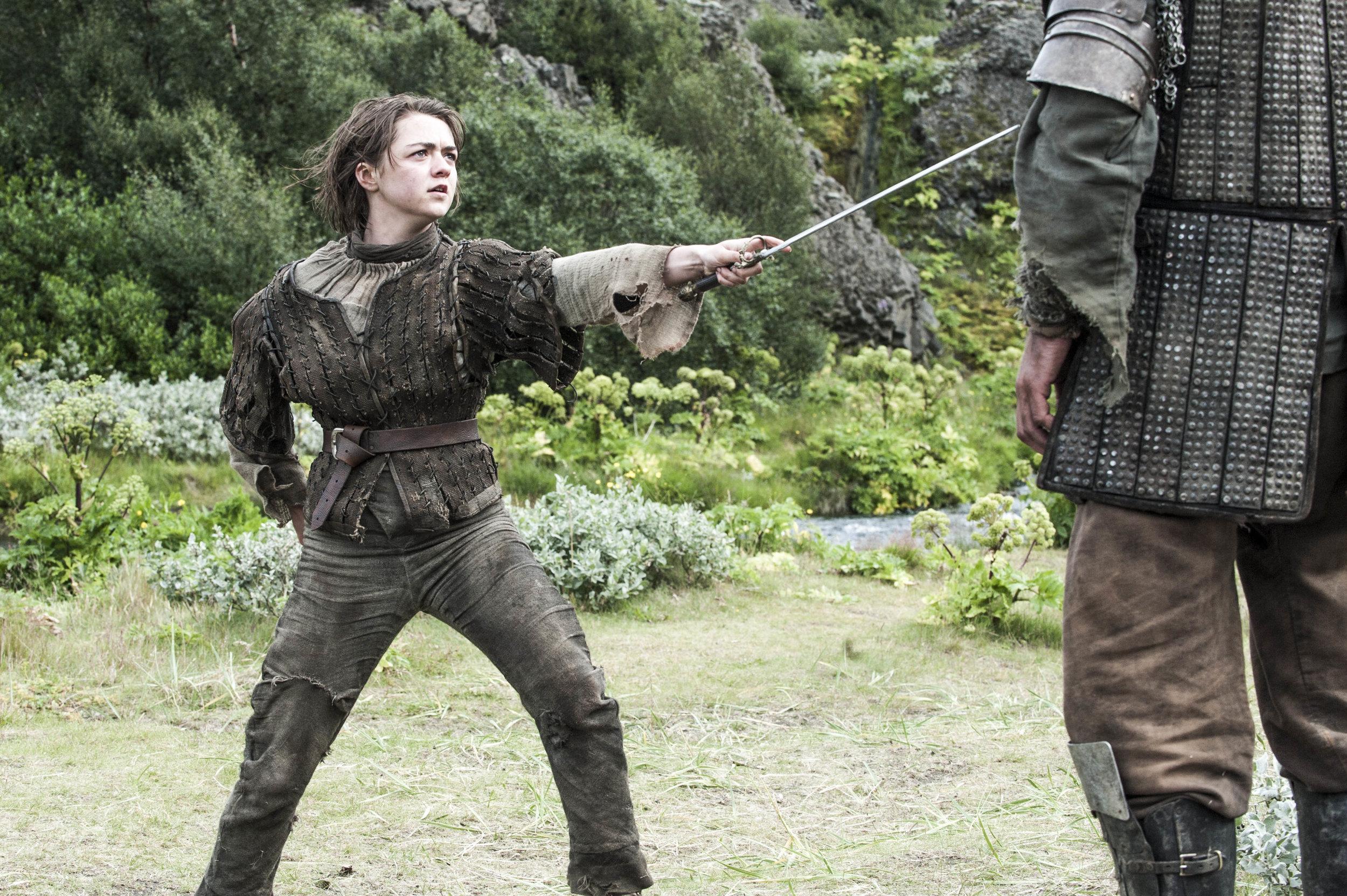 Arya Stark with her Needle - HBO