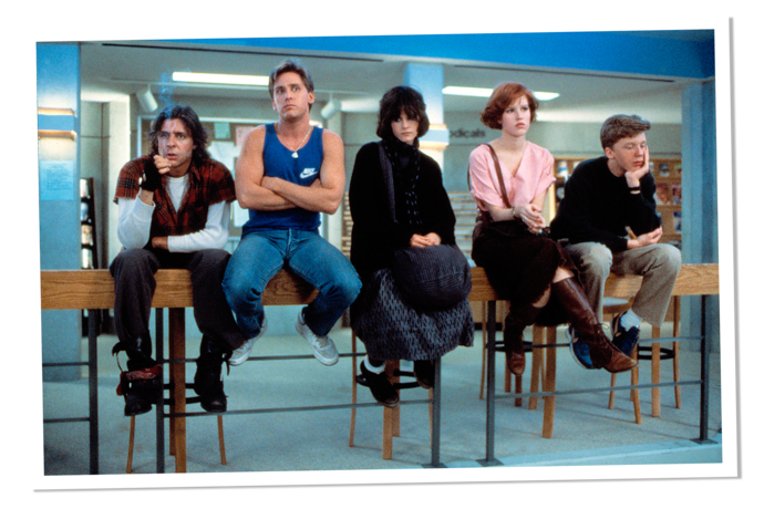 "The Breakfast Club - 1985 - ""Dear Mr. Vernon…You see us as you want to see us—in the simplest terms and the most convenient definitions."""