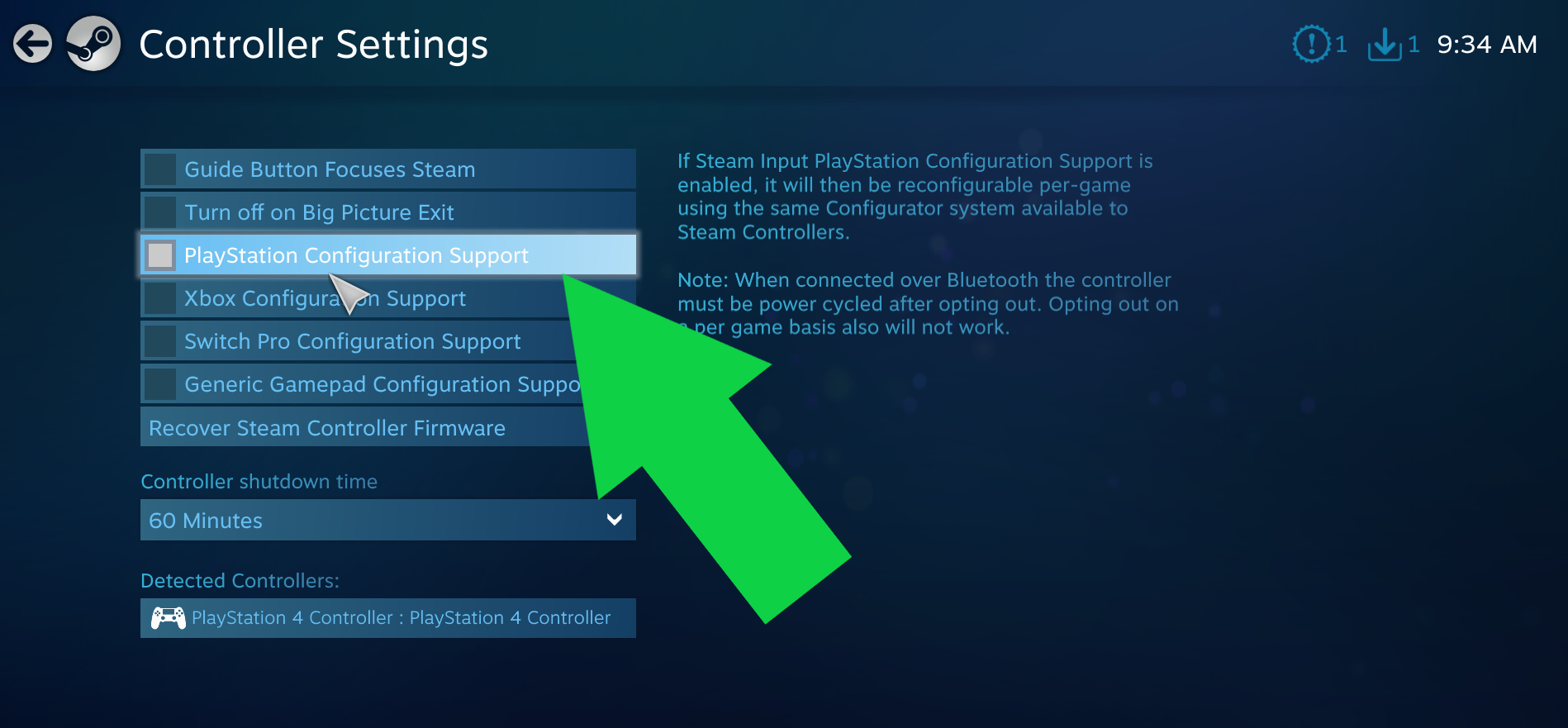 PS4 Controller to Steam 5