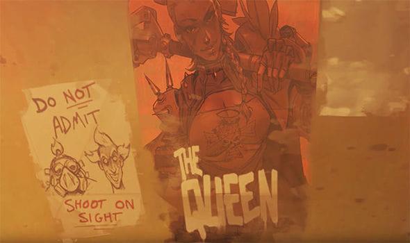 Poster in Junkertown of the Queen