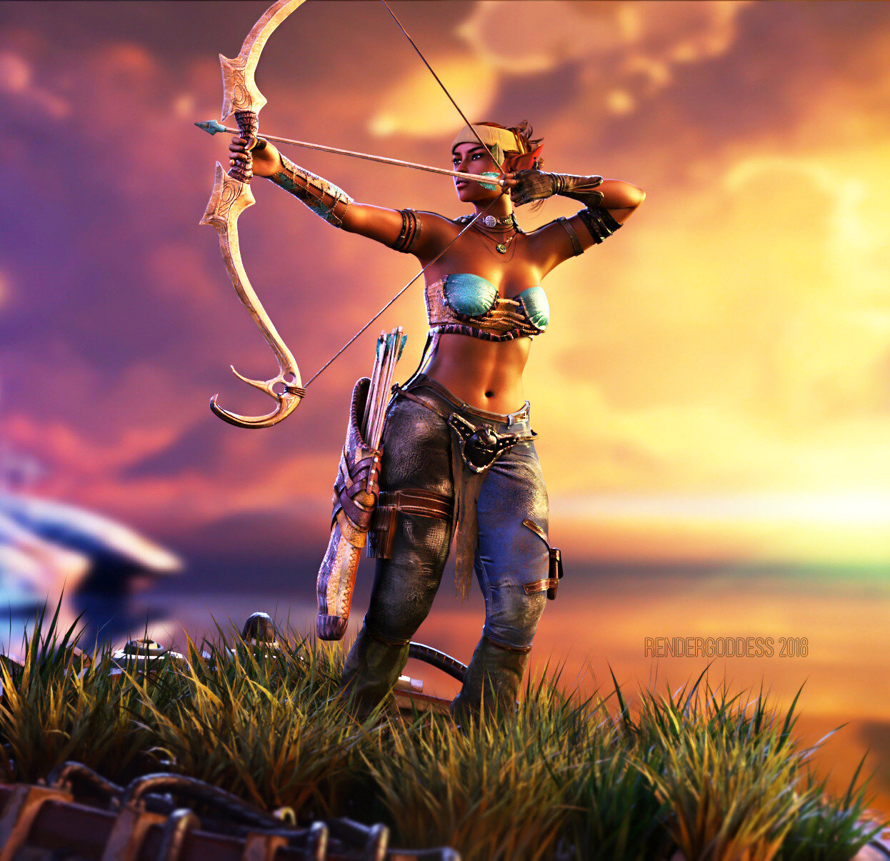 Elven and Her Arrow
