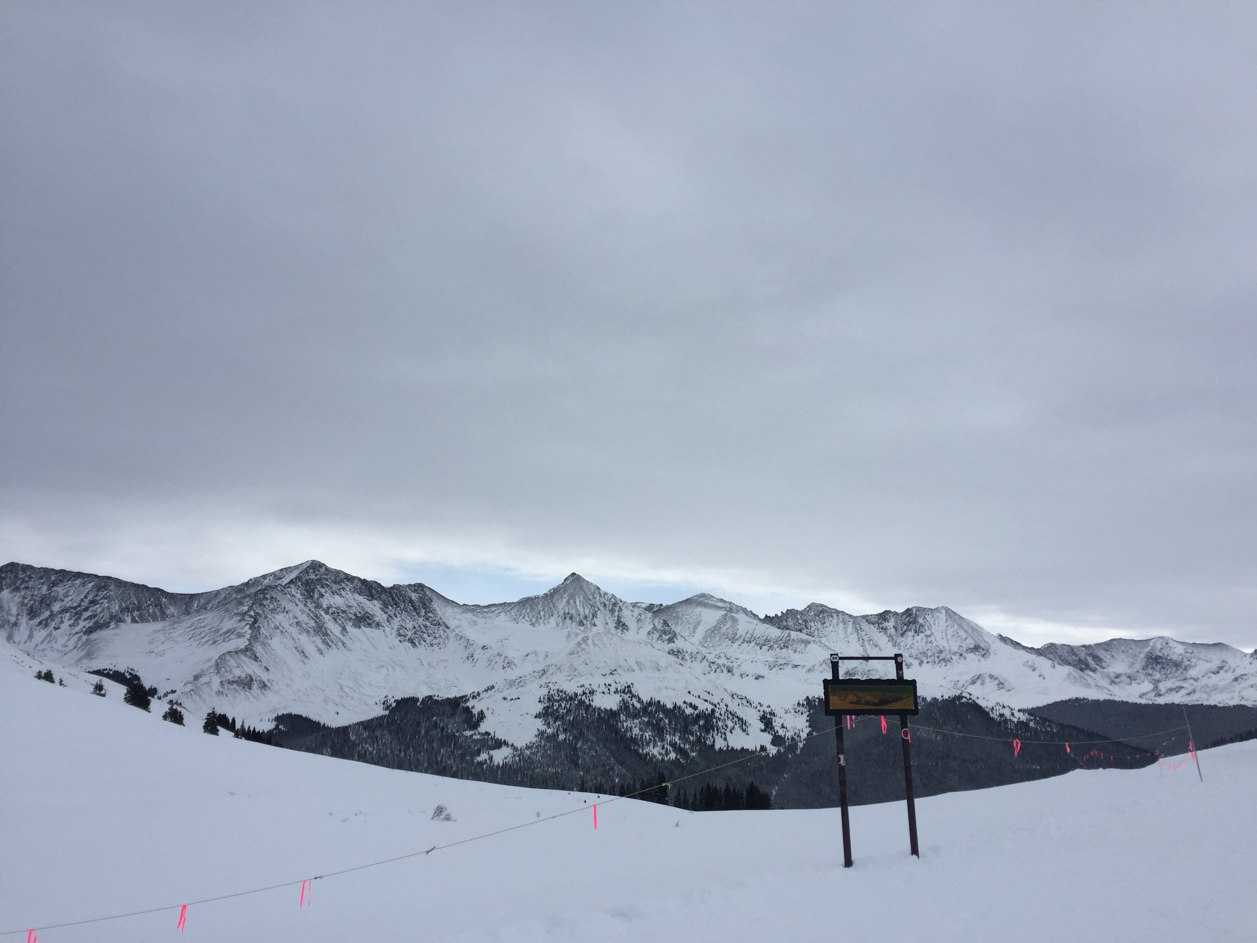 This was taken at the top of Copper Mountain's back bowls.