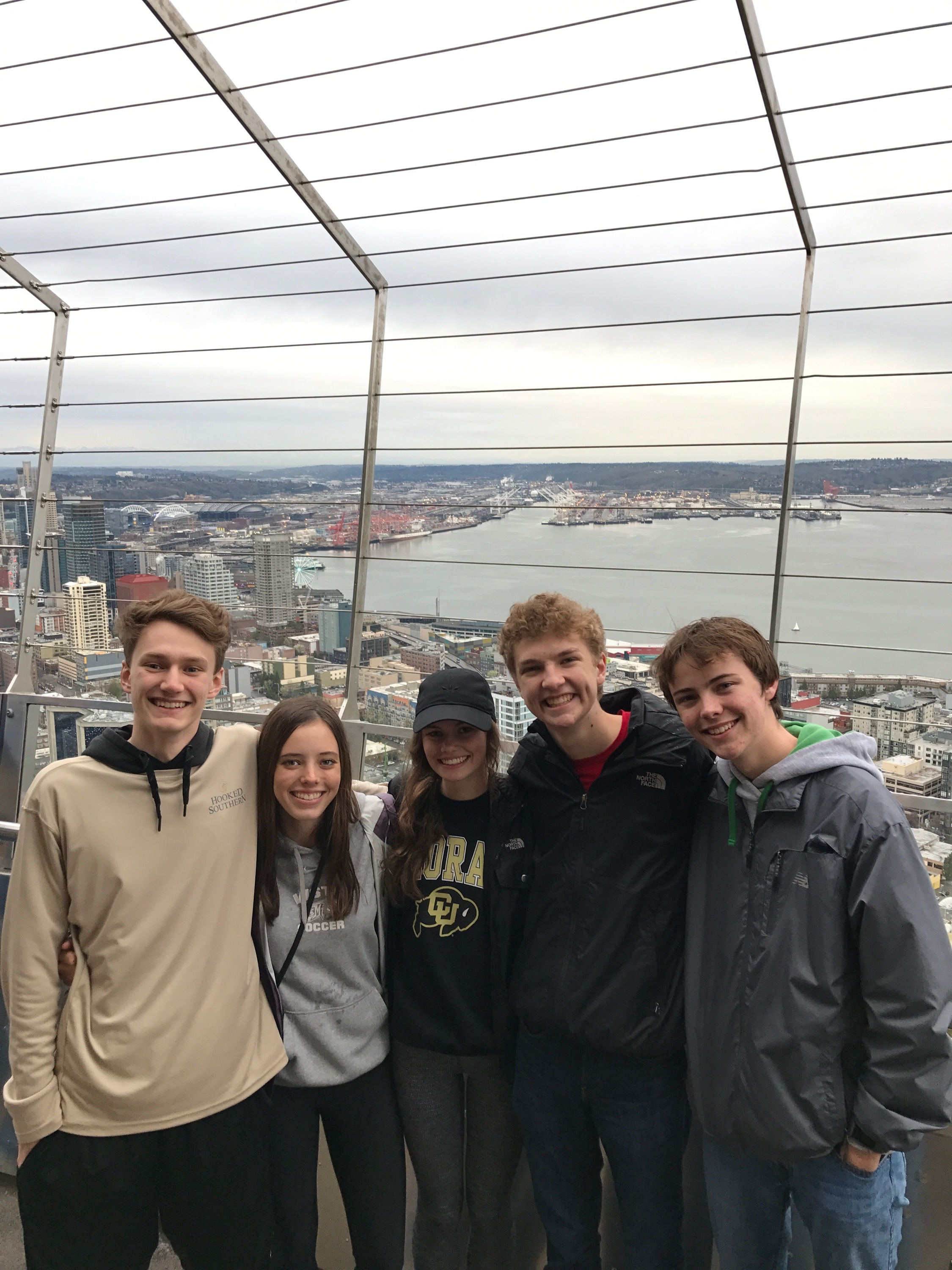 My best friends and I on top of the Space Needle in Seattle. We were at the 2017 spring national convention. They have been my biggest motivators and teachers in this program.