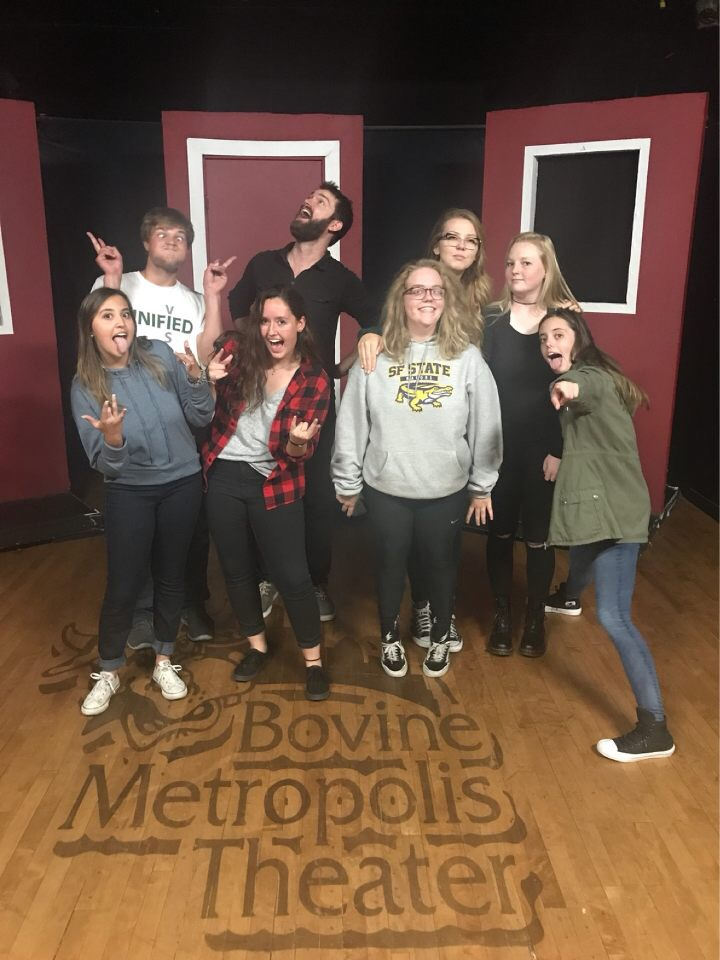 After learning at 5280, we headed over to an improv theatre to learn and play games, followed by a performance.