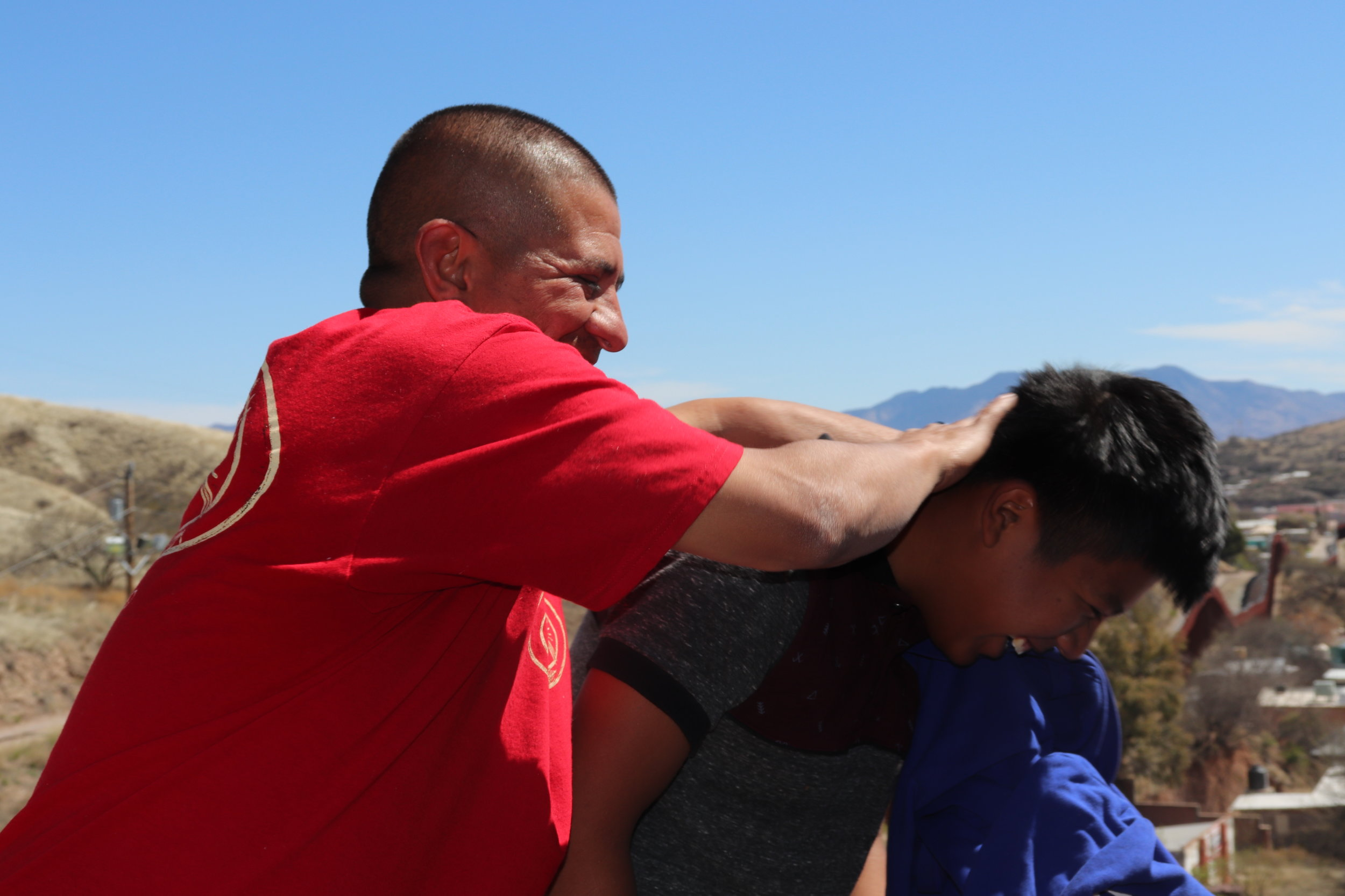 Rodger Babnew, an episcopal deacon and resident of Nogales, Arizona, spends four days a week crossing the border to spend his time with migrant families. He helped create La Roca with Cruzando Fronteras (which translates to Crossing Borders).