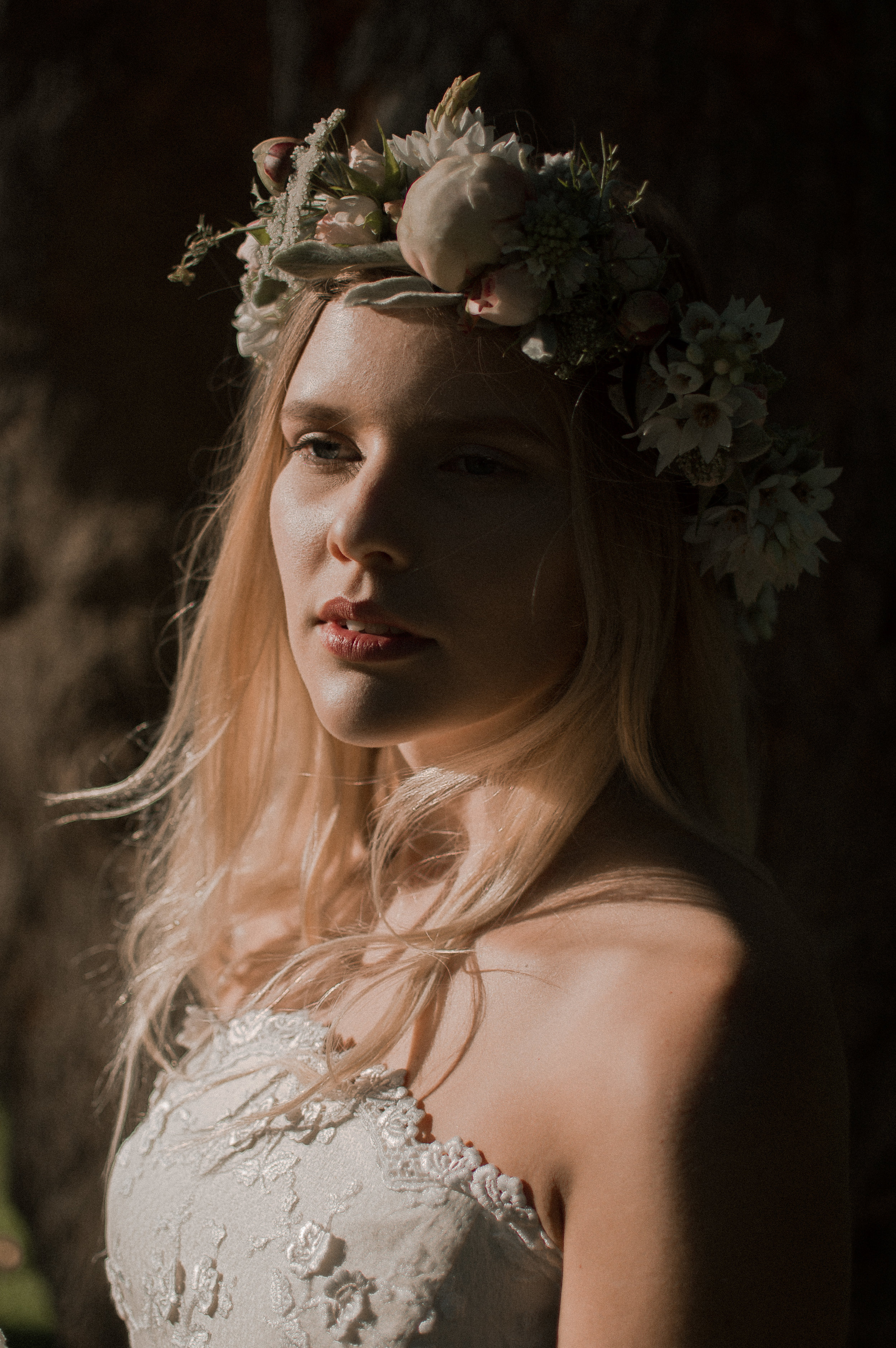Zoe with native flower crown
