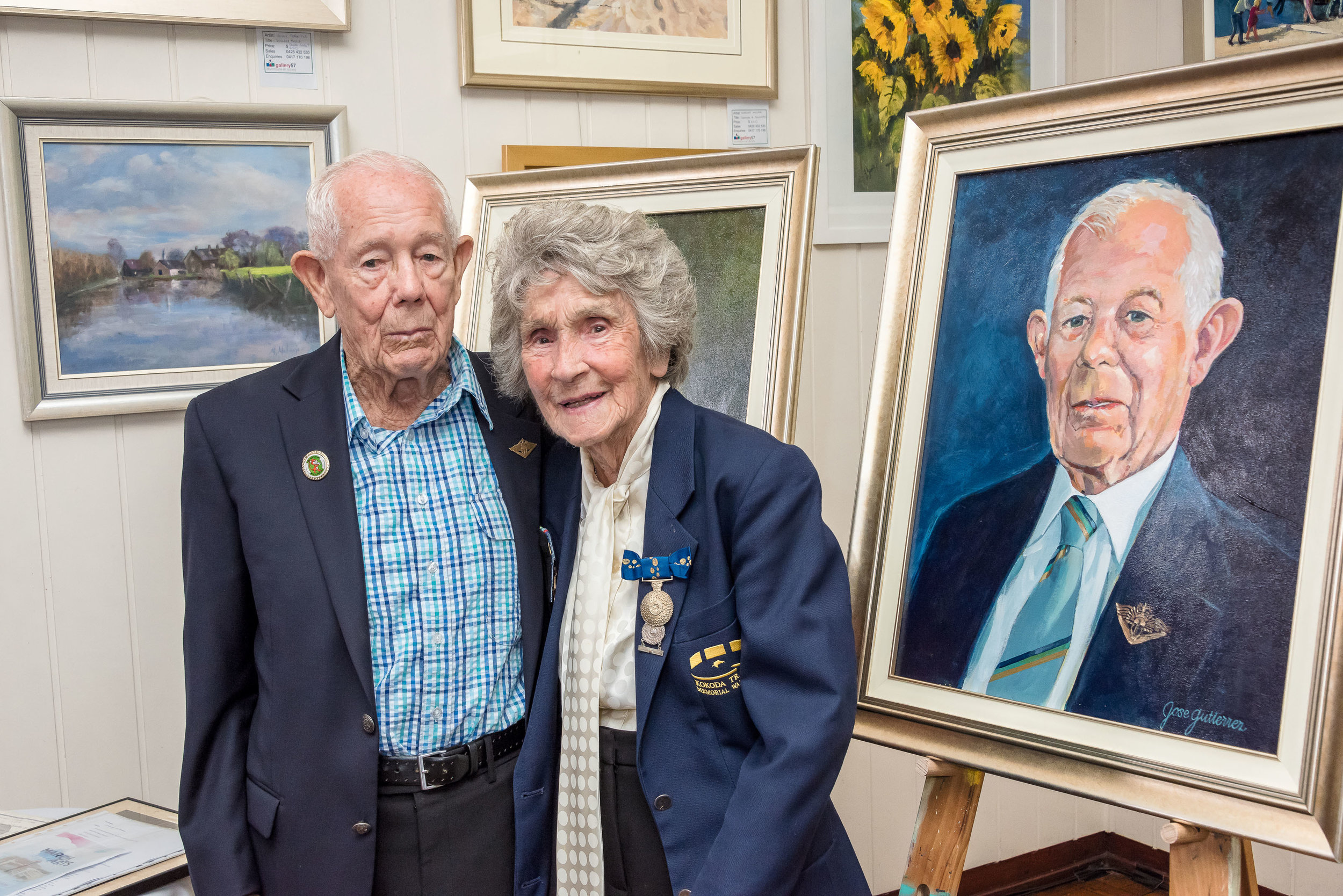 Reginald James Chard with Volunteer Peggy Dickinson.jpg