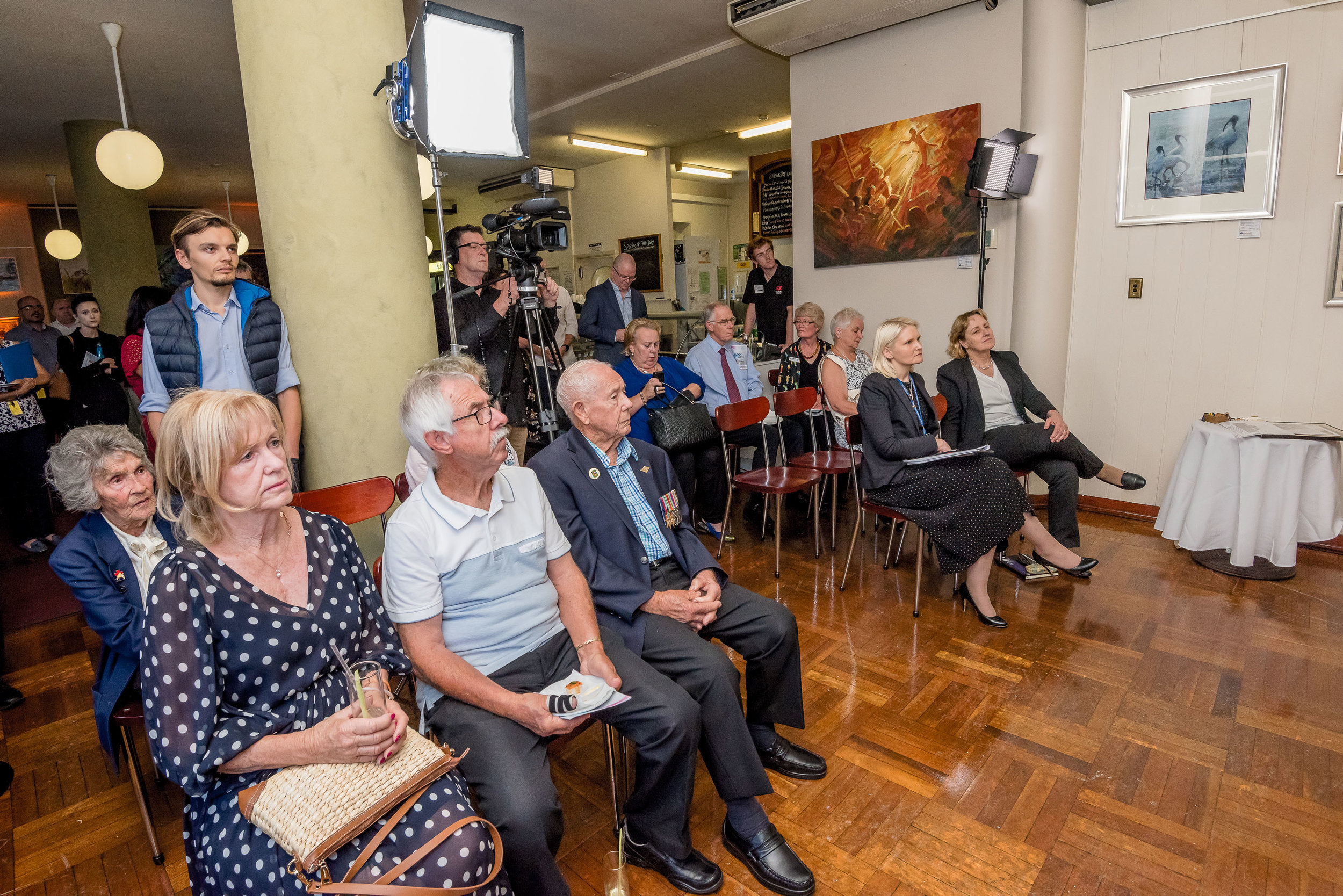 Speakers and attendees at the launch of March Arts.jpg