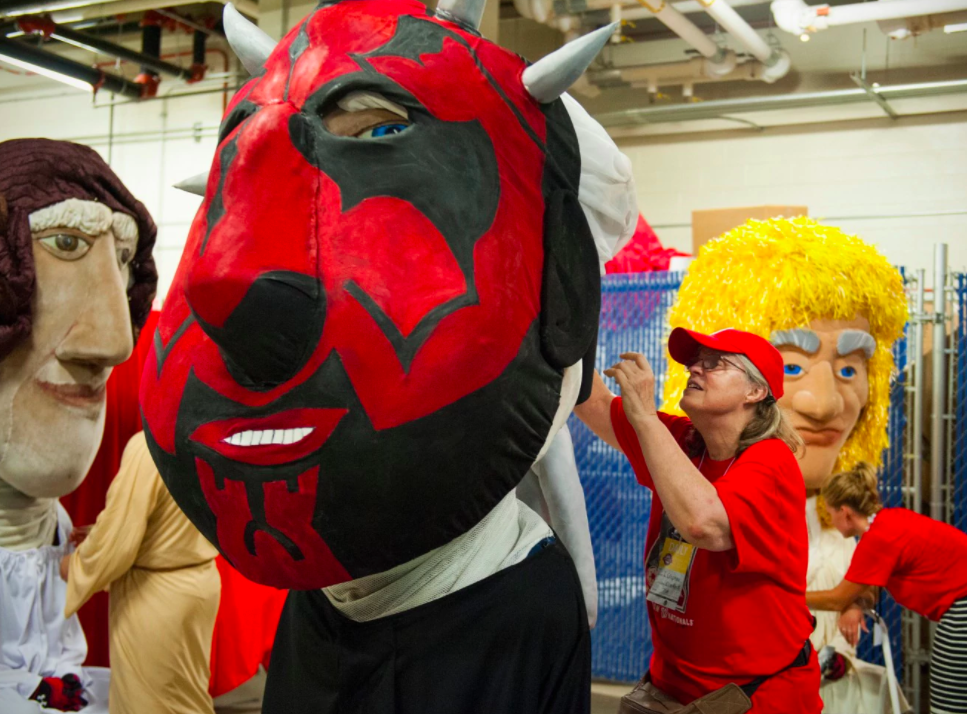 Behind every great D.C. sports mascot, there's a great woman (with a bottle of vodka and a stash of safety pins)  Meet Ingrid Crepeau, the master puppeteer who keeps Racing Teddy, G-Wiz and Slapshot looking sharp.