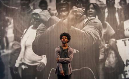 The kid from the 'hood who snapped an iconic Baltimore image  Installing his first professional art exhibit, Devin Allen wants to keep capturing inner-city life nationwide.