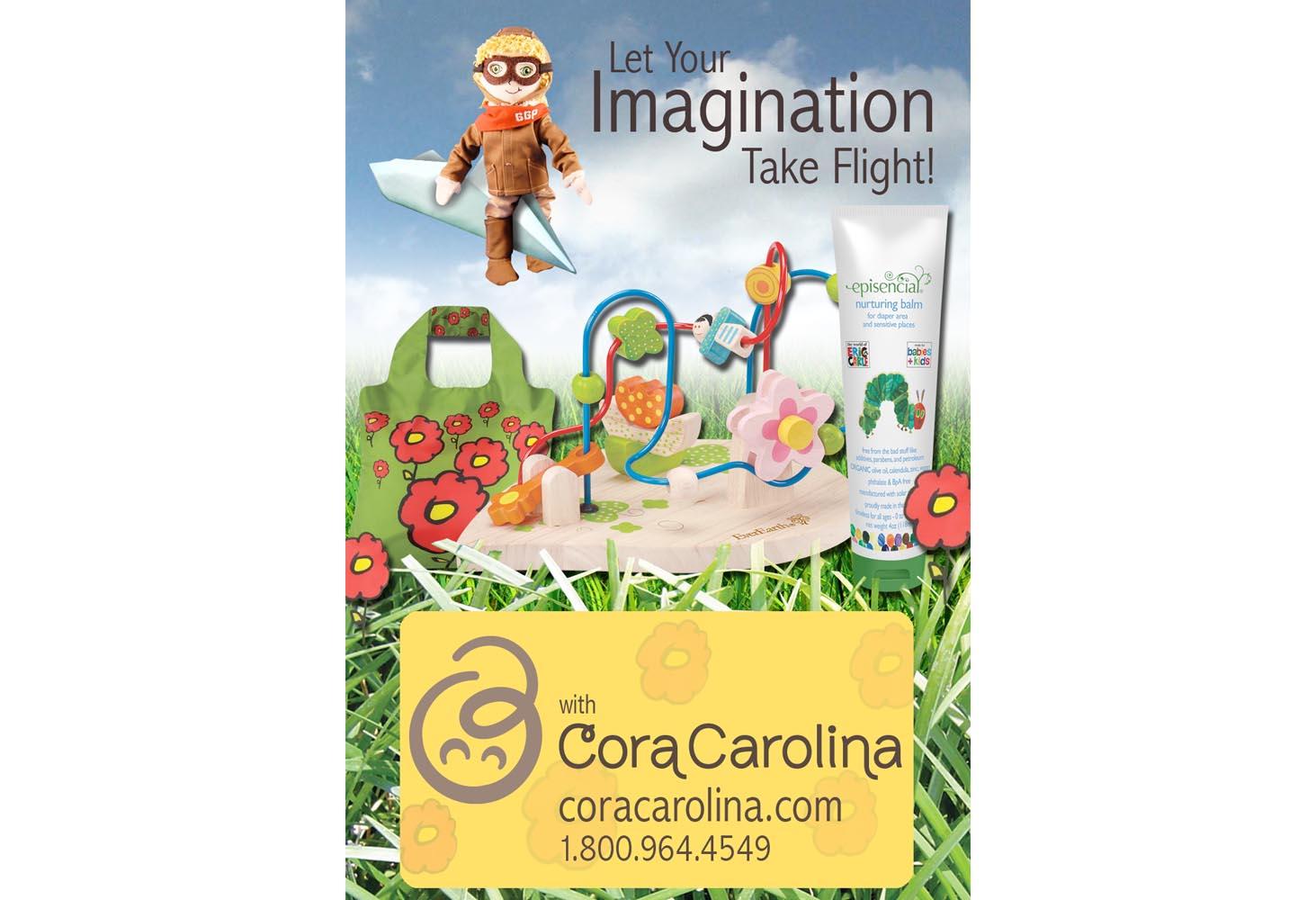 Cora Carolina - A Toy Boutique Web Ad
