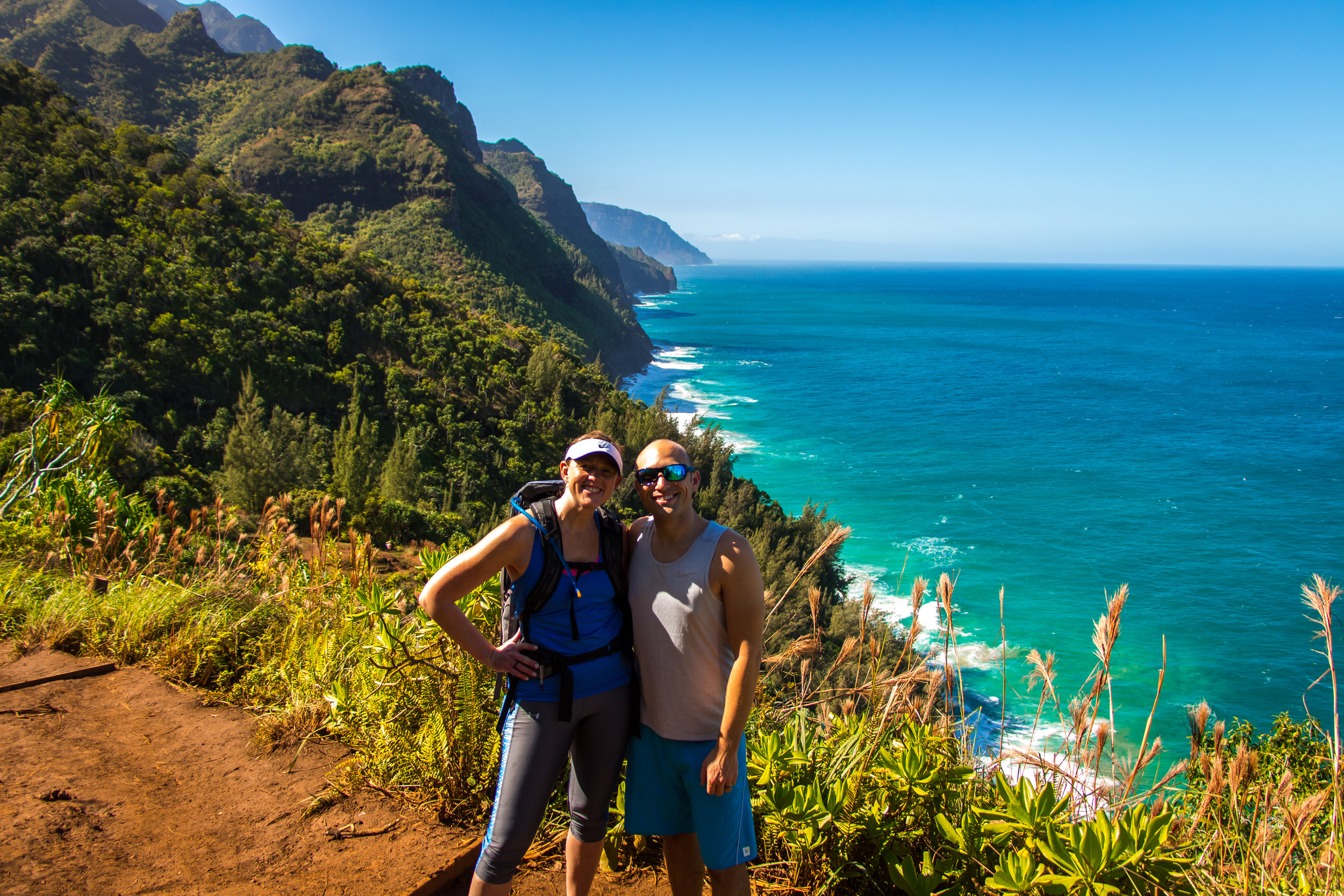 Erin along with her husband in beautiful Hawai'i.