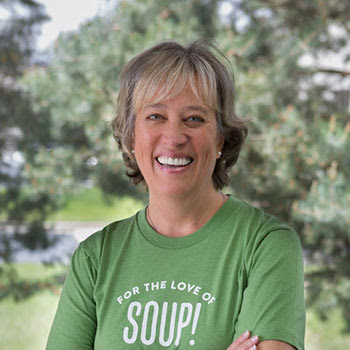 Kate repping some Boulder Organic! Soup gear in her hometown - Boulder, CO.