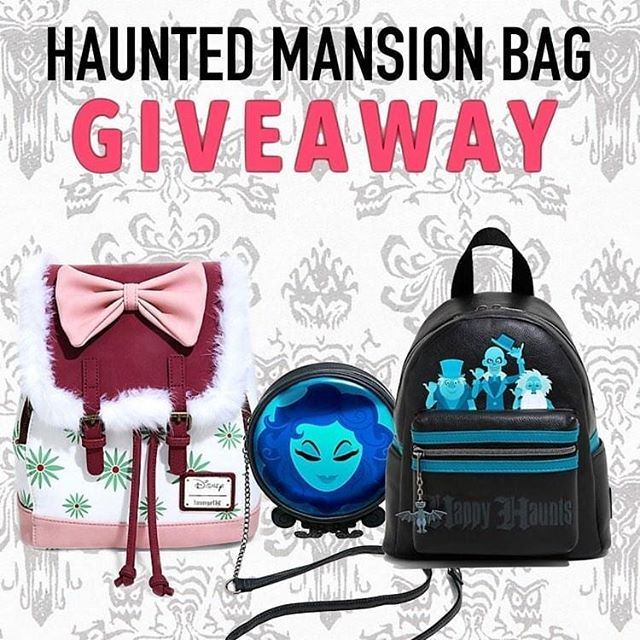 🏰✨🔮HAUNTED MANSION GIVEAWAY🔮✨🏰 I've teamed up with some amazing Disney accounts to give away three Loungefly Haunted Mansion bags! It takes less than a minute to enter! ✨ To enter  1️⃣ Follow me @ 2️⃣ Like this post ❤️ 3️⃣ Go to @enchantedgiveaways and follow all directions ✨ EXTRA ENTRY:  Tag a friend in the comments of this post, extra entires are unlimited!  #hauntedmansion #happyharveys #shopharveys #hauntedmansion50thanniversary #disney #disneyaddict #disneygram #magickingdom #mickeysnotsoscaryhalloween #waltdisneyworld #disneylove #hitchhikingghosts #disneybound #disneystyle #disneyintsa #mnsshp #cutebag #disneyworld #disneyprincesses  #loungefly #disneyparks #disneymagic #disneyfan #disneyland