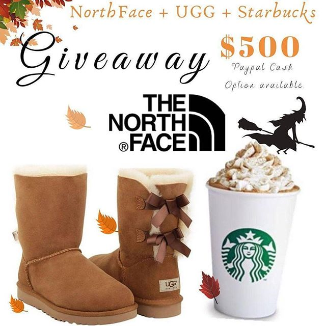🍂Northface jacket, Ugg Boots & Starbucks Giftcard OR $500 CASH could be yours to spend🍂 . We've teamed up with some amazing ladies to gift one lucky winner a FALL PACKAGE or $500 cash! . . TO ENTER 👇. . 1️⃣Like & Save this photo  2️⃣Comment what you'd like to spend the money on! 3️⃣Go to @hashtaggiveaways OR @momboss_gives and follow the quick directions on their post . . That's it! Best of luck!!! The winner will be announced on 10/6. . . This in no way sponsored, administered, or associated with Instagram, Inc or any of the brands involved. By entering, entrants confirm they are at least 18 years of age, release Instagram of responsibility, and agree to Instagram's terms of use.