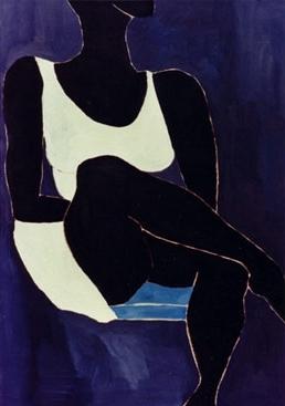 Black woman seated