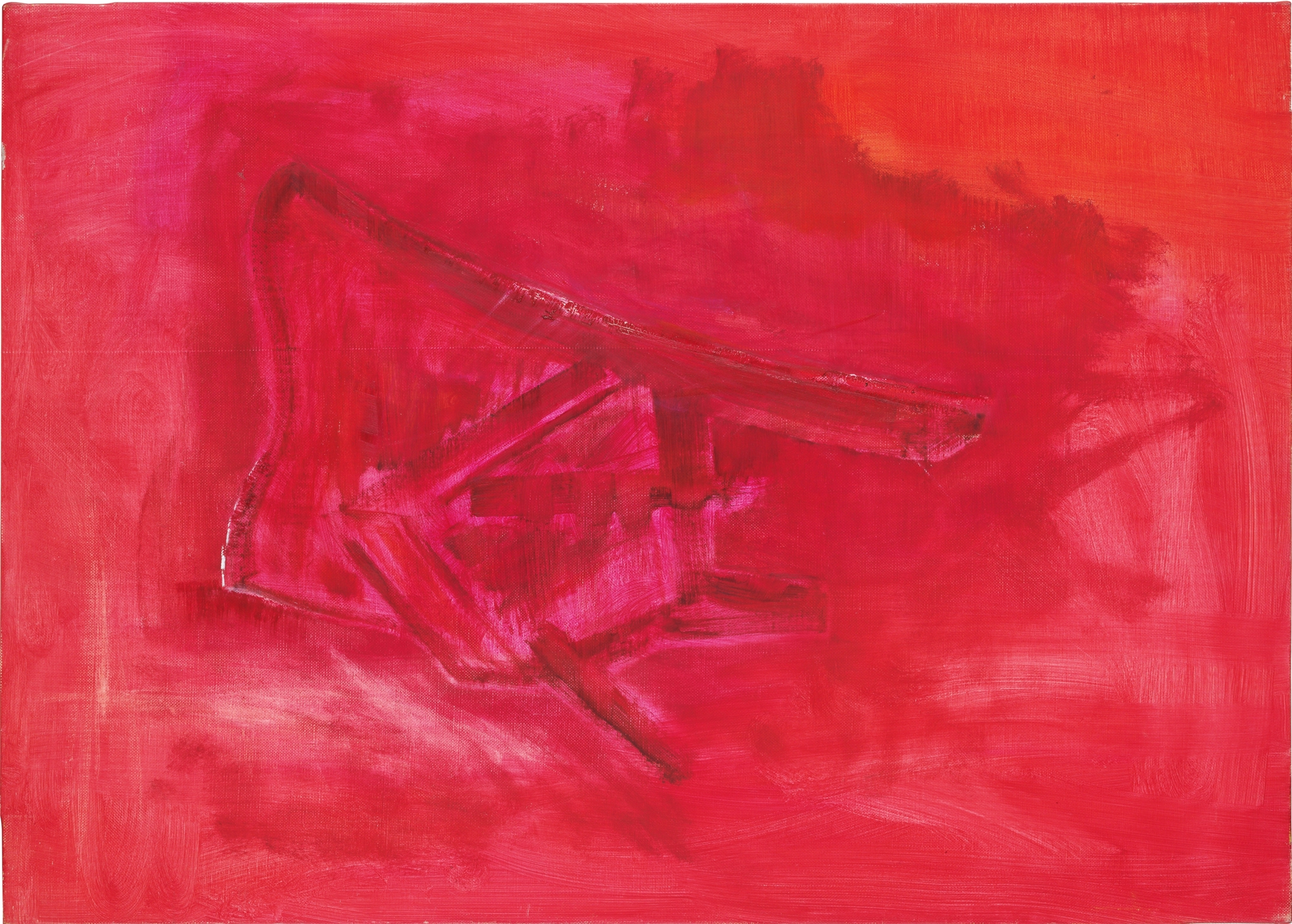 Chaise très rouge