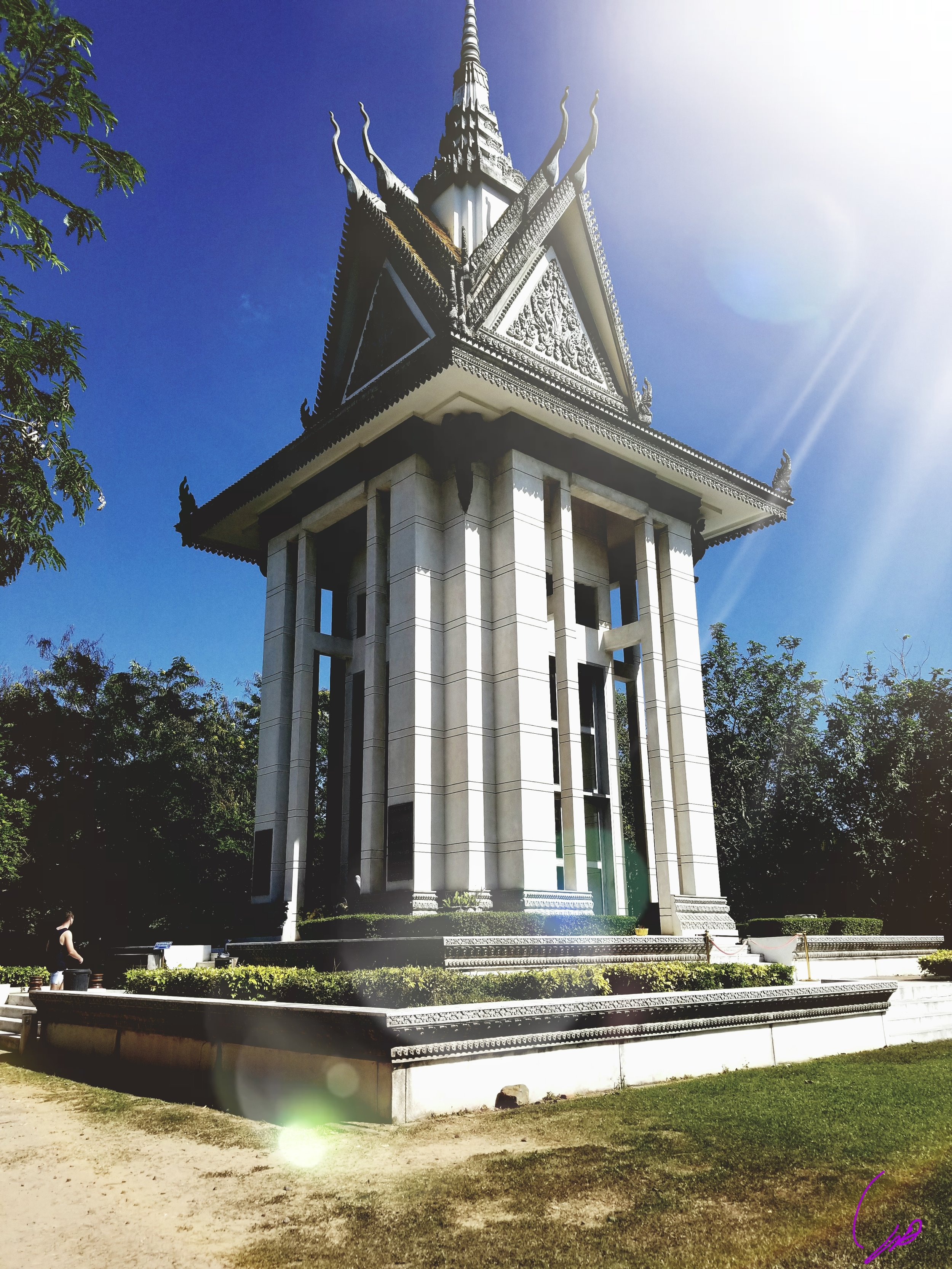 Memorial to those executed at The Killing Fields. Photo Courtesy Jasmine Thurston