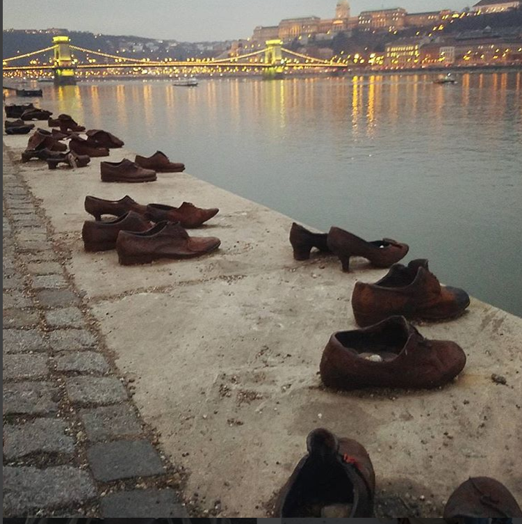 Shoes on the Danube. Hungary.