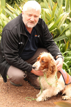 Brian Shields Bio-security officer Auckland Council and his ant dog Rhys