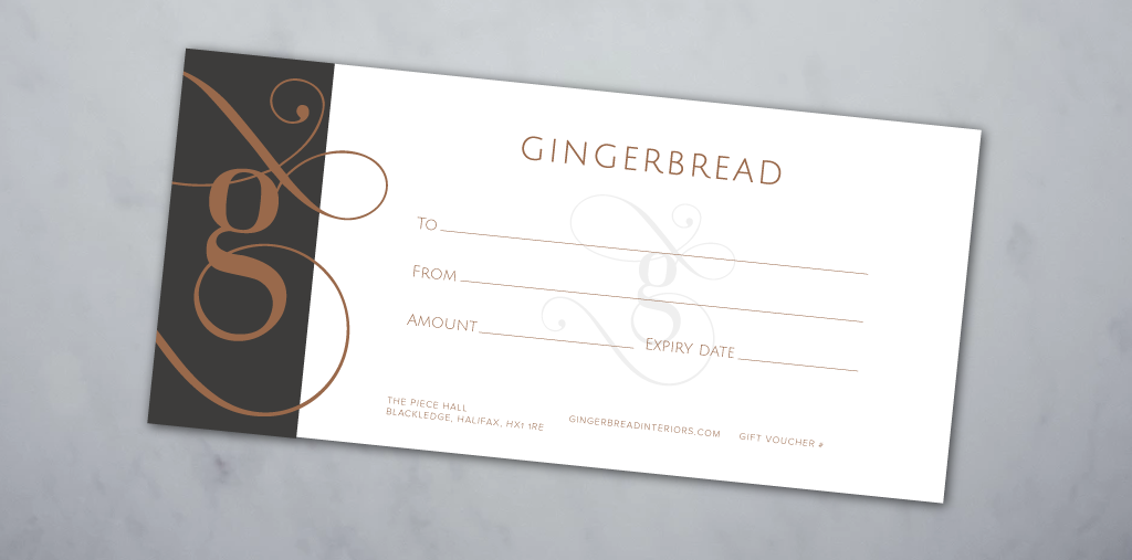Gift Cards & E-Gift Cards - The perfect gift for someone who loves Gingerbread accessories and home-wear!