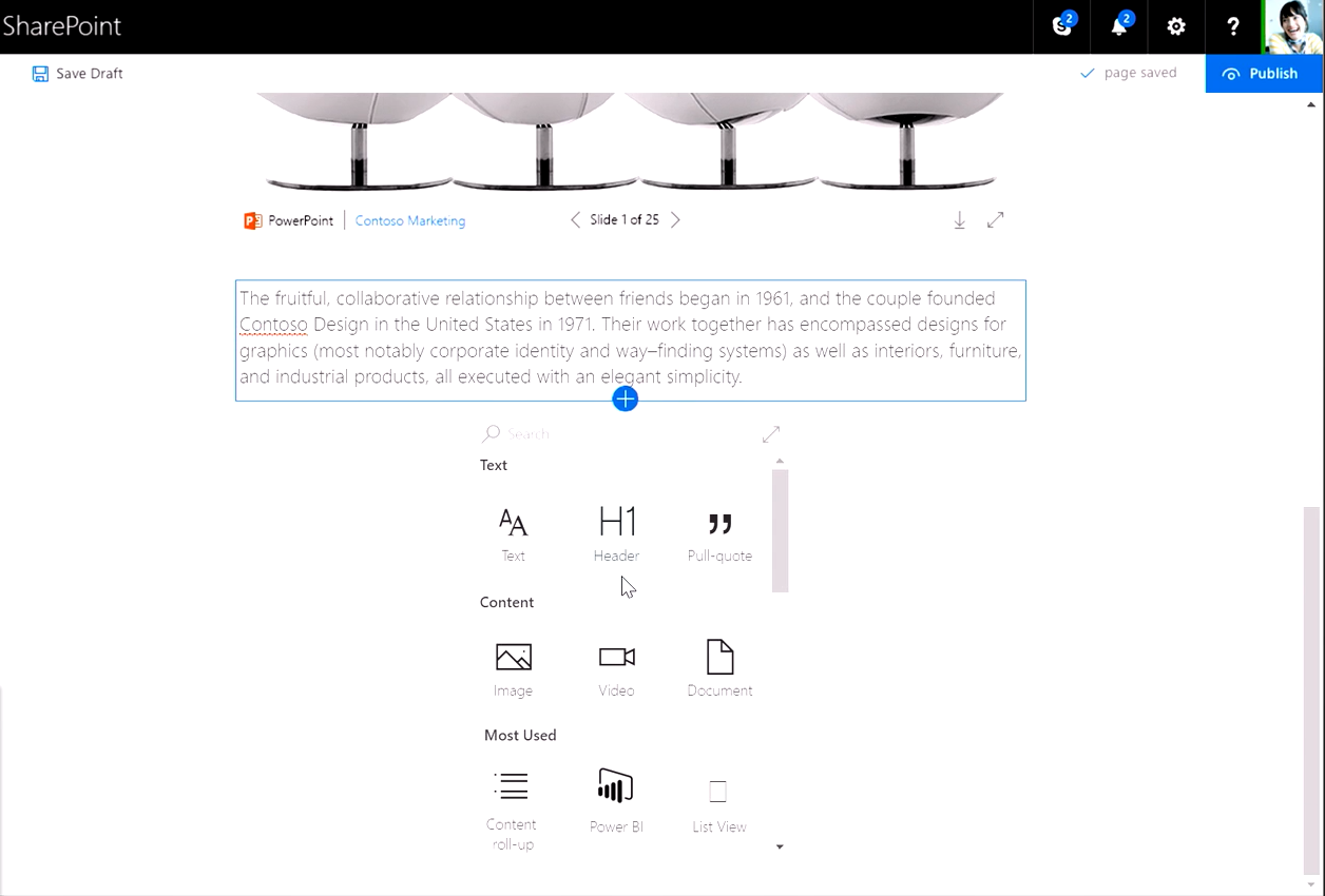 SharePoint - page authoring