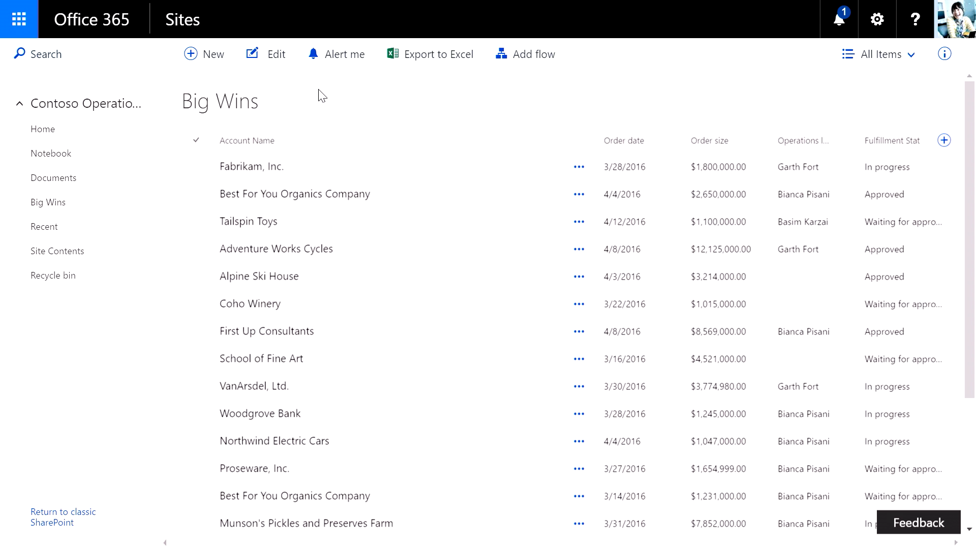 SharePoint List update
