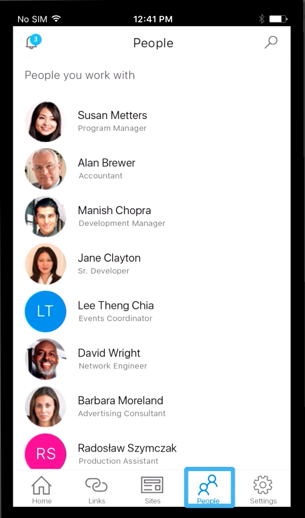SharePoint App - People