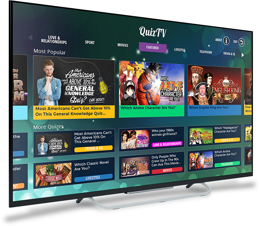 QuizTV - A unique and wildly fun way to engage your viewers, and generate new ad revenue!