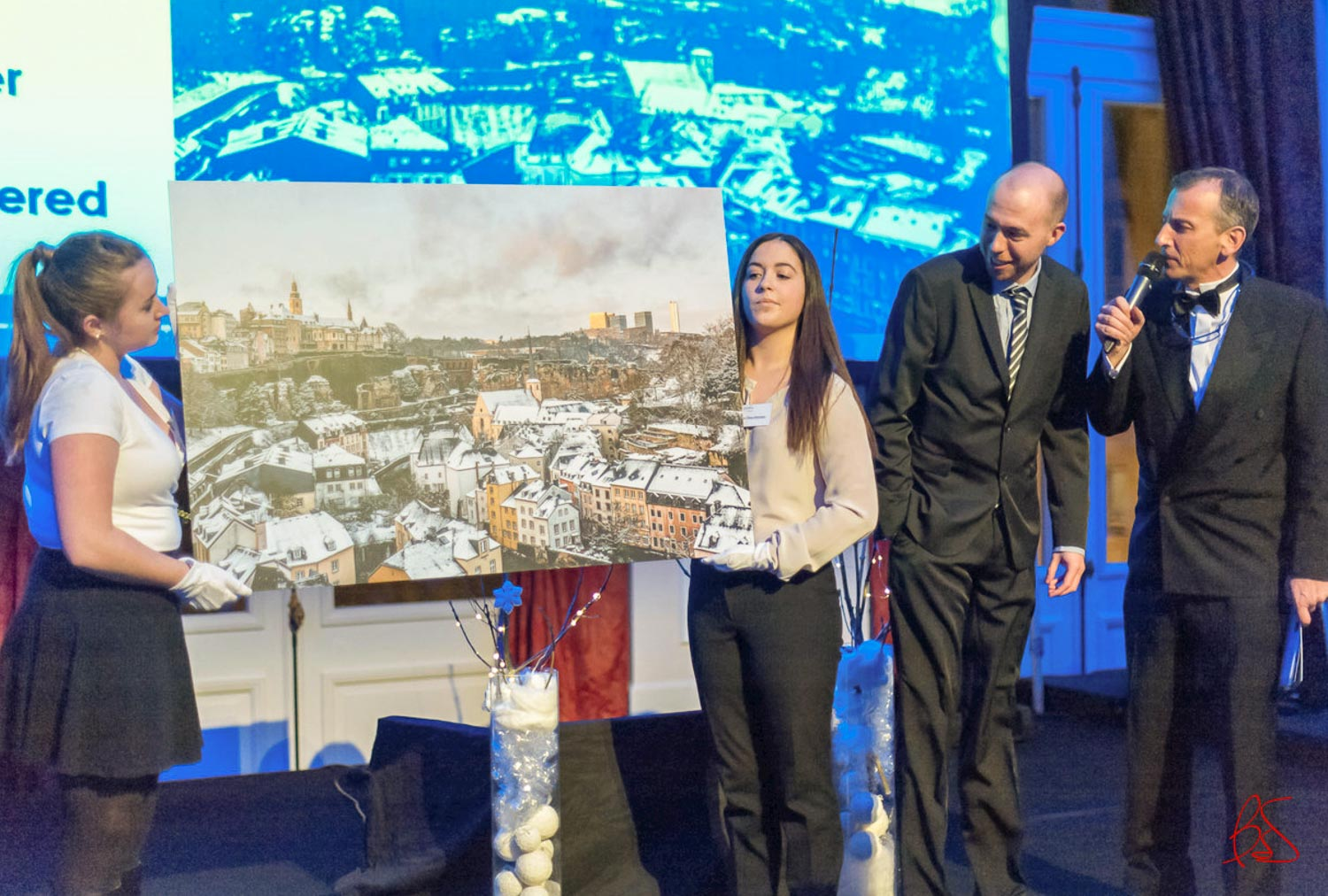 Make-A-Wish Luxembourg Winter Wonderland Gala and Auction 2016 at Cercle Cité in Luxembourg City -The Fable City picture of Luxembourg donated by photographer Christophe Van Biesen