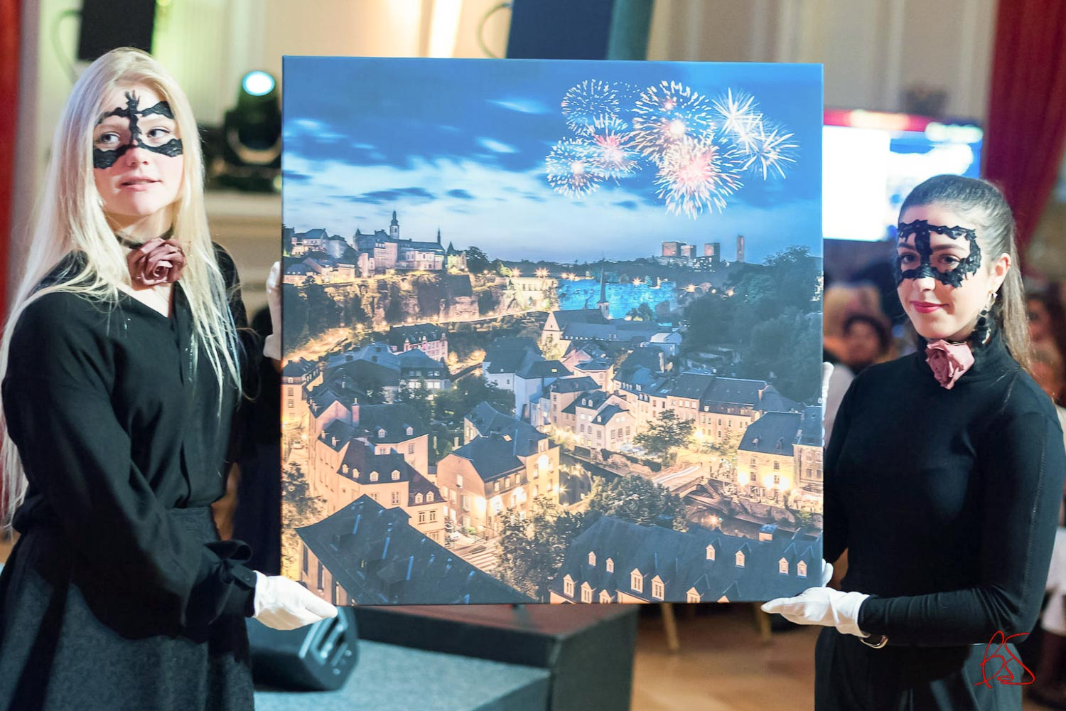 Make-A-Wish Luxembourg - Masquerade Gala and Auction 2017 at Cercle Cité in Luxembourg City - Live Auction - Rain and Fire fine art print by Christophe Van Biesen