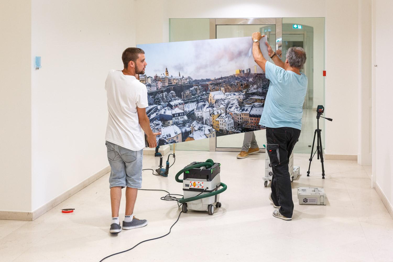 Permanent exhibition at the Banque et Caisse d'Epargne de l'Etat Luxembourg, ARBED, 19, Liberté - Photography by Christophe Van Biesen - Luxembourg Landscape and Travel Photographer
