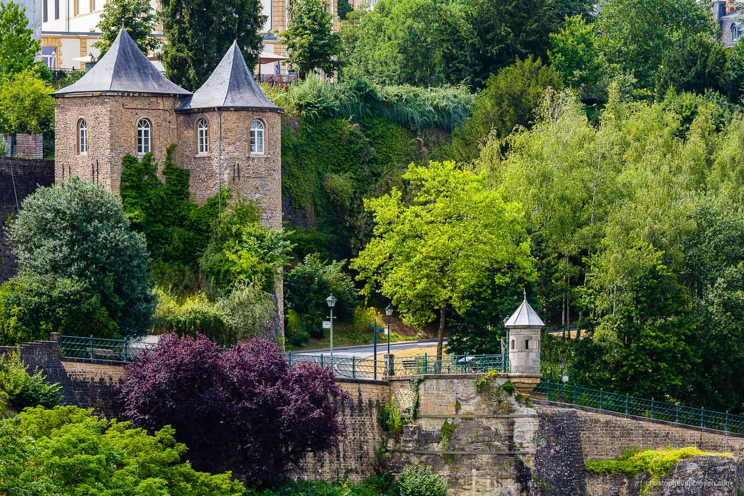 Summer in Luxembourg - Luxembourg city's Three Towers and one of the Spanish Towers - The City's Watchtowers