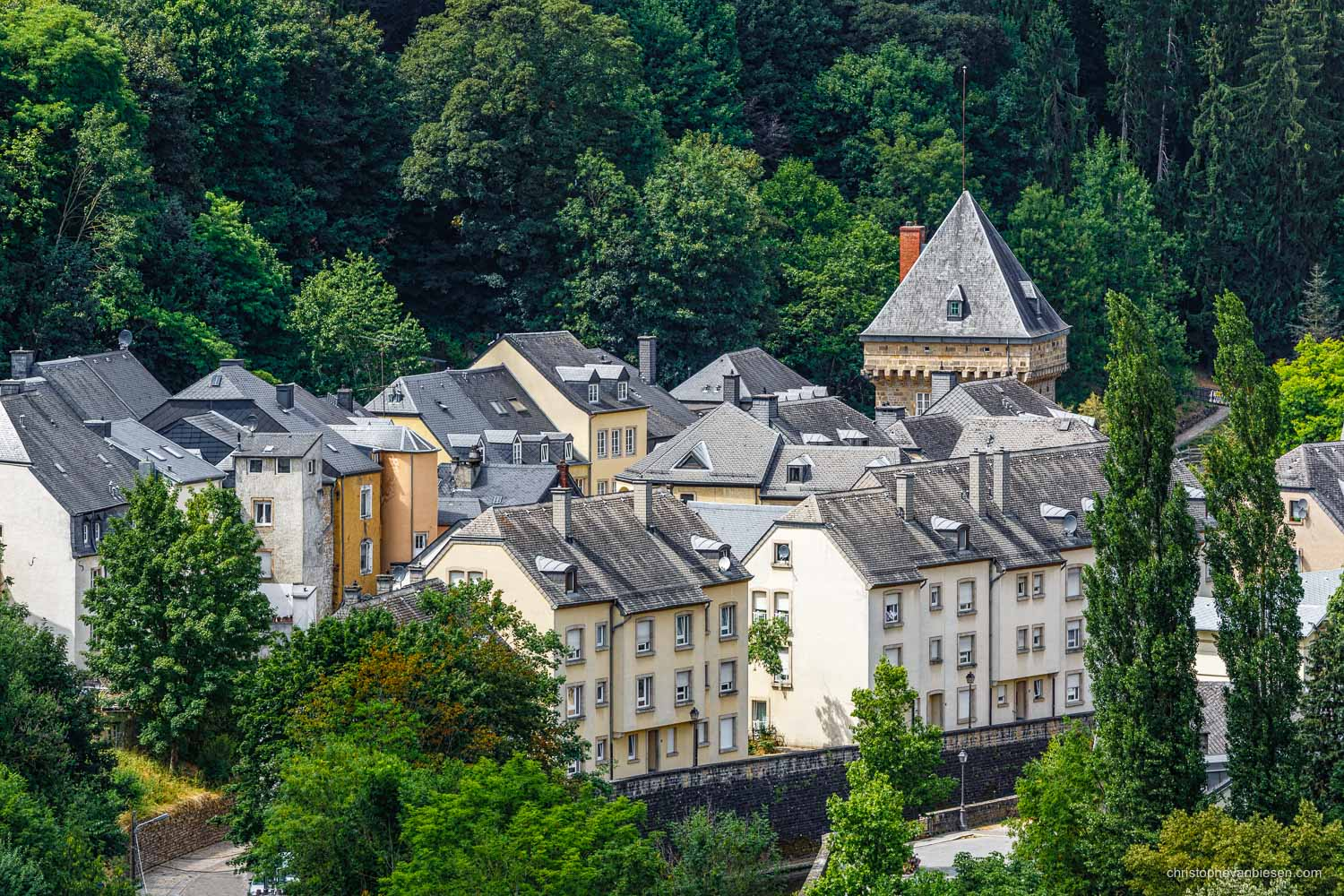 Summer in Luxembourg - One of Luxembourg City's Vauban Towers in Pfaffenthal - The City's Watchtowers III