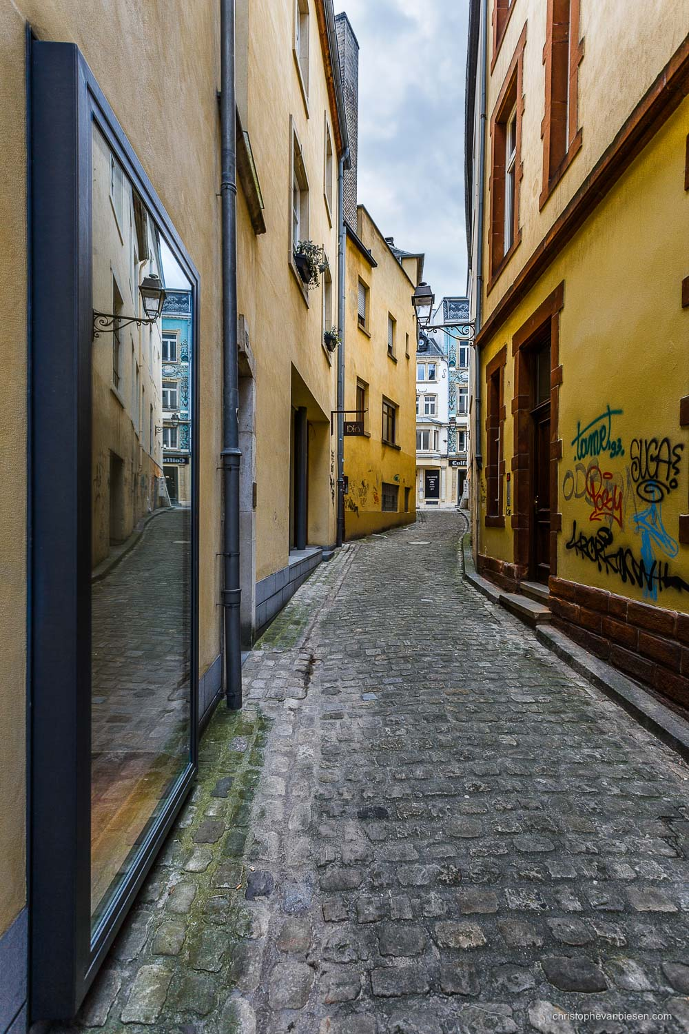 Narrow Streets of Luxembourg City - Rue de la Monnaie in Narrow Streets of Luxembourg City - The Narrows III